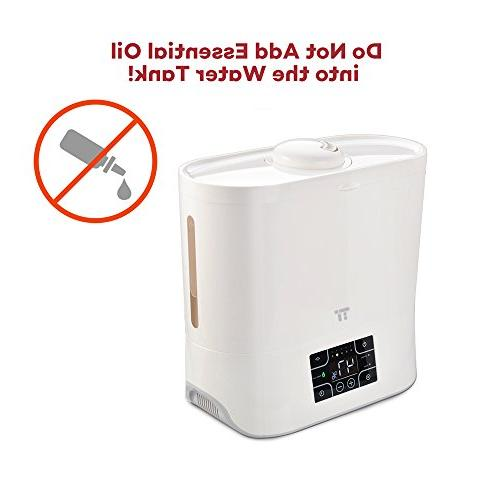 TaoTronics Top Ultrasonic Humidifier, Easy to Germ free, Humidifier Room, with Ceramic Humidity 180° Nozzle