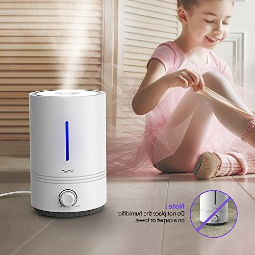 VAVA Humidifiers, 4.3L Humidifier , 17-36 Shut Off, Mood Light,