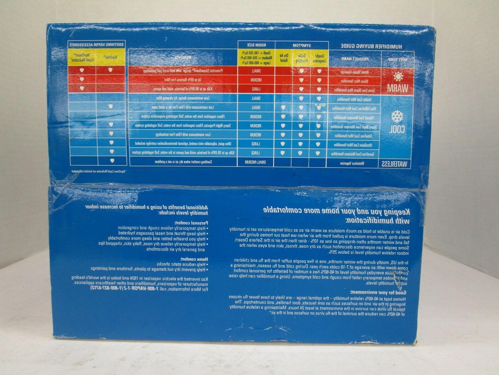 VICKS FILTERED COOL HUMIDIFIER SMALL 1.0 GALLON V3100VD1 NT 6713