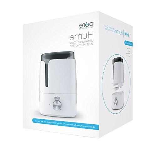 Pure Cool Mist Humidifier with Easy-Clean Variable Shut-Off and for Baby Nursery, and