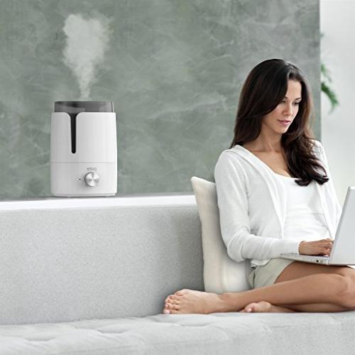 Pure Cool Easy-Clean 3.5-Liter Variable Settings, Shut-Off Ultra-Quiet for Bedrooms and Office