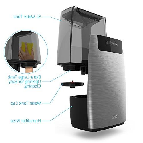 Pure HumeXL Cool Large, Easy-to-Clean 5-Liter/1.3 Water Tank, Touch-Button High/Low 2 360° Mist and Night Mode