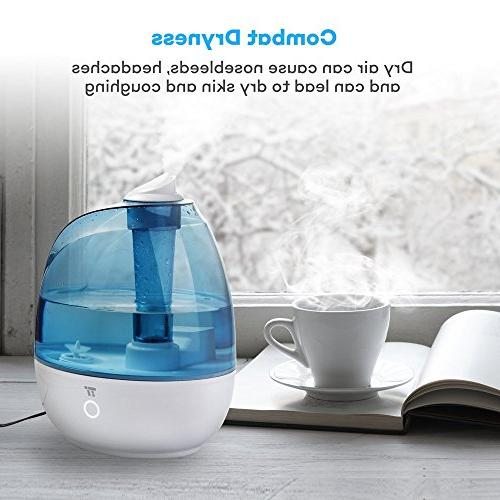 TaoTronics Mist Humidifiers for Bedroom, & Whisper US Plug 110V