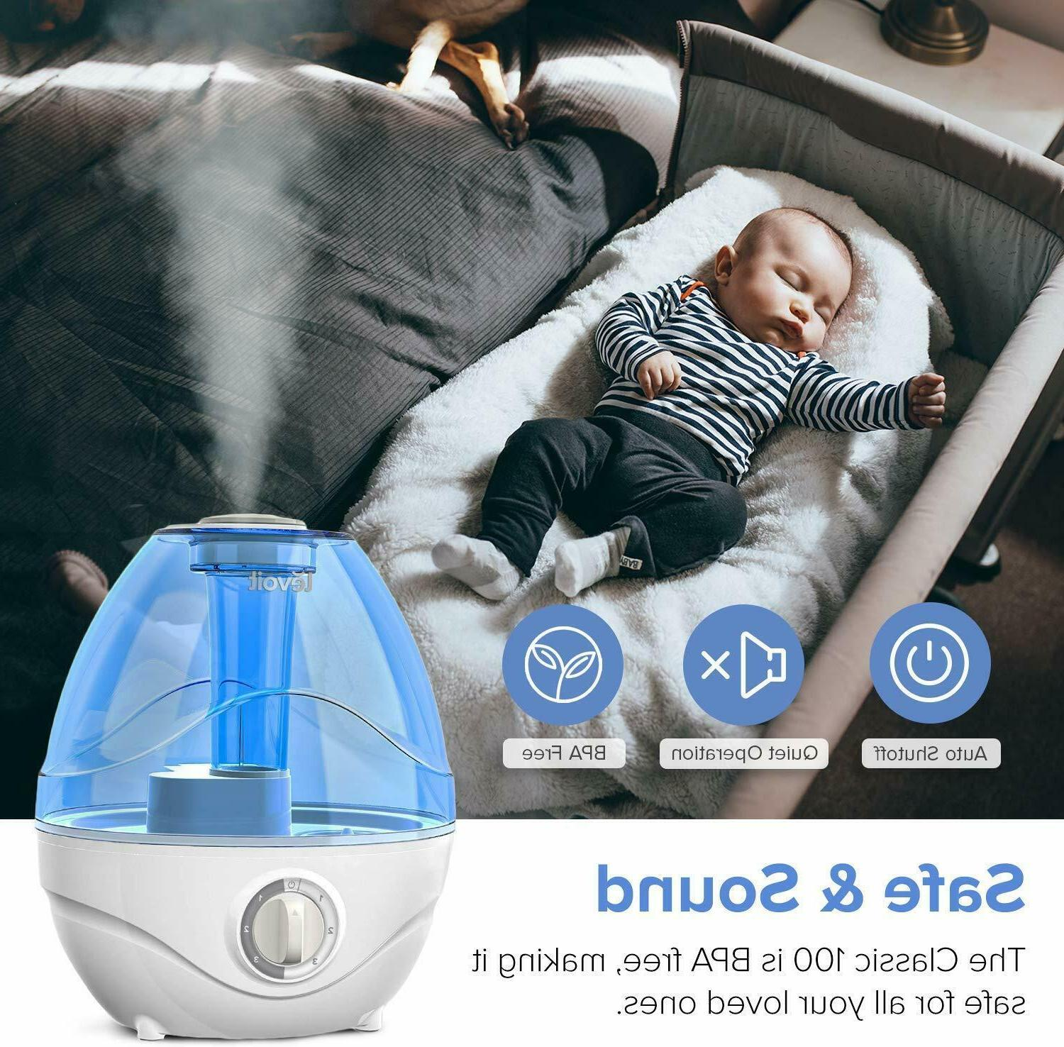 LEVOIT Humidifiers Ultrasonic Cool Mist Humidifier Babies Shut-Off