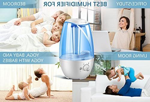 GENIANI L Humidifier for Bedroom Babies - Filter-Free for Large Night Light Shut Off Year