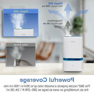 LEVOIT Humidifiers 4L Ultrasonic Mist Humidifier Large