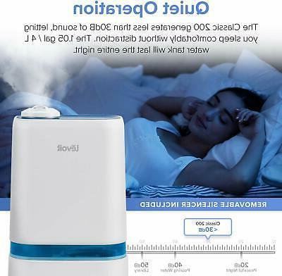 LEVOIT Humidifiers for Bedroom, 4L Ultrasonic Cool Humidifier
