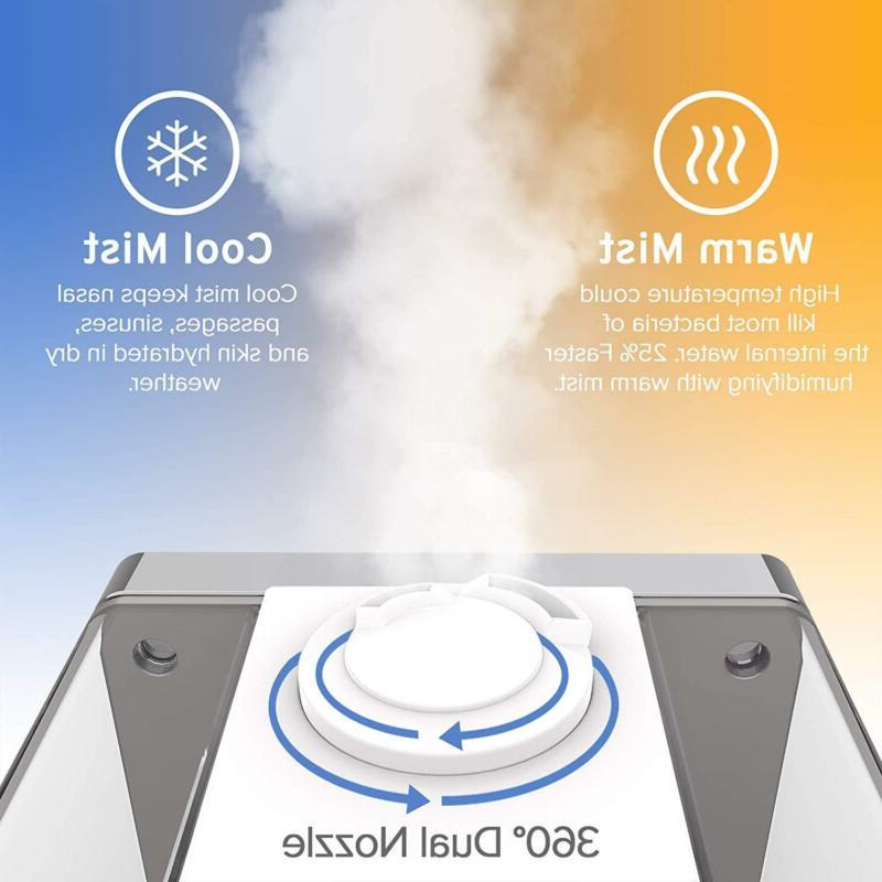 Humidifiers Vaporizer Warm Cool Ultrasonic Air Bedroom