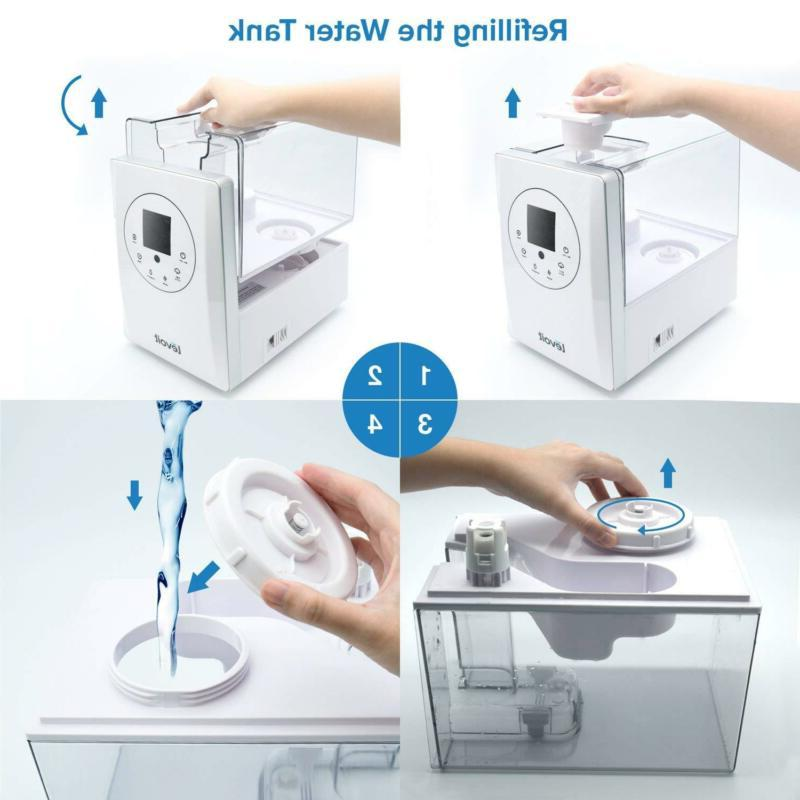 Humidifiers Vaporizer Warm Cool Ultrasonic Air Bedroom Control