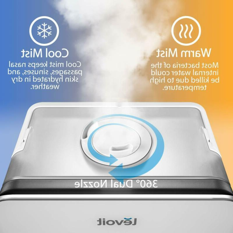 LEVOIT Humidifier, Large 5.5L Cool Warm Mist Ultrasonic