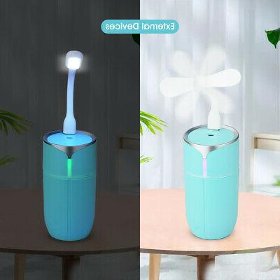 LED Mini Humidifier Air Purifier Freshener Essential