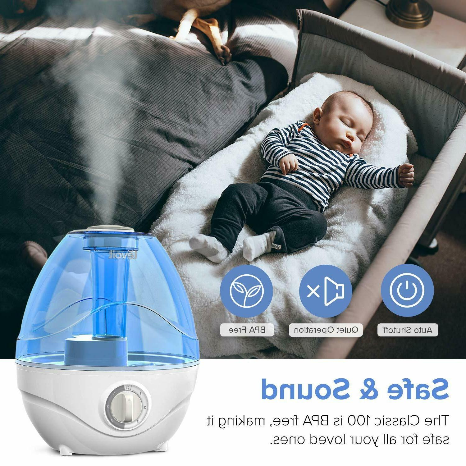 LEVOIT Humidifiers for Bedroom, 2.4L Cool Humidifier for Babies