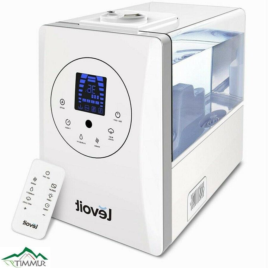 levoit lv600hh hybrid ultrasonic humidifier | mist cool warm