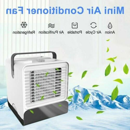 Mini Portable Air Conditioner Cooling Humidifier Desk Fans P