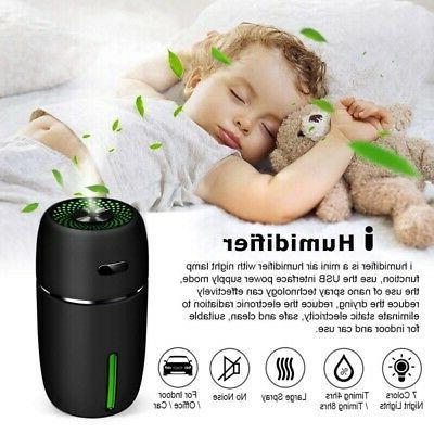 Car Mini USB Air Humidifier Aroma Diffuser Essential Oil Air