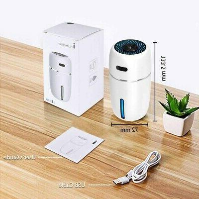 Mini USB Aroma Diffuser Oil Purifier LED