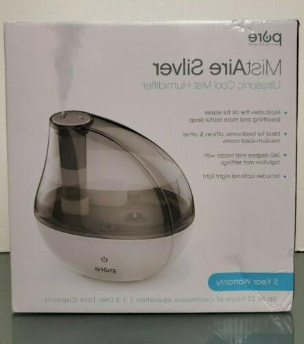 mistaire silver ultrasonic cool mist humidifier pehumgry