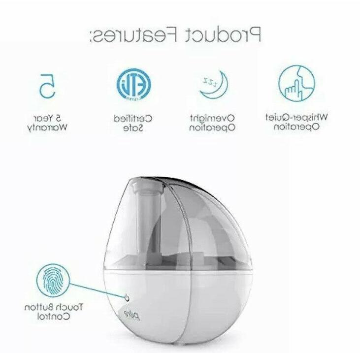 NEW!! Pure Enrichment MistAire Silver Ultrasonic Humidifier -1.5-Liter