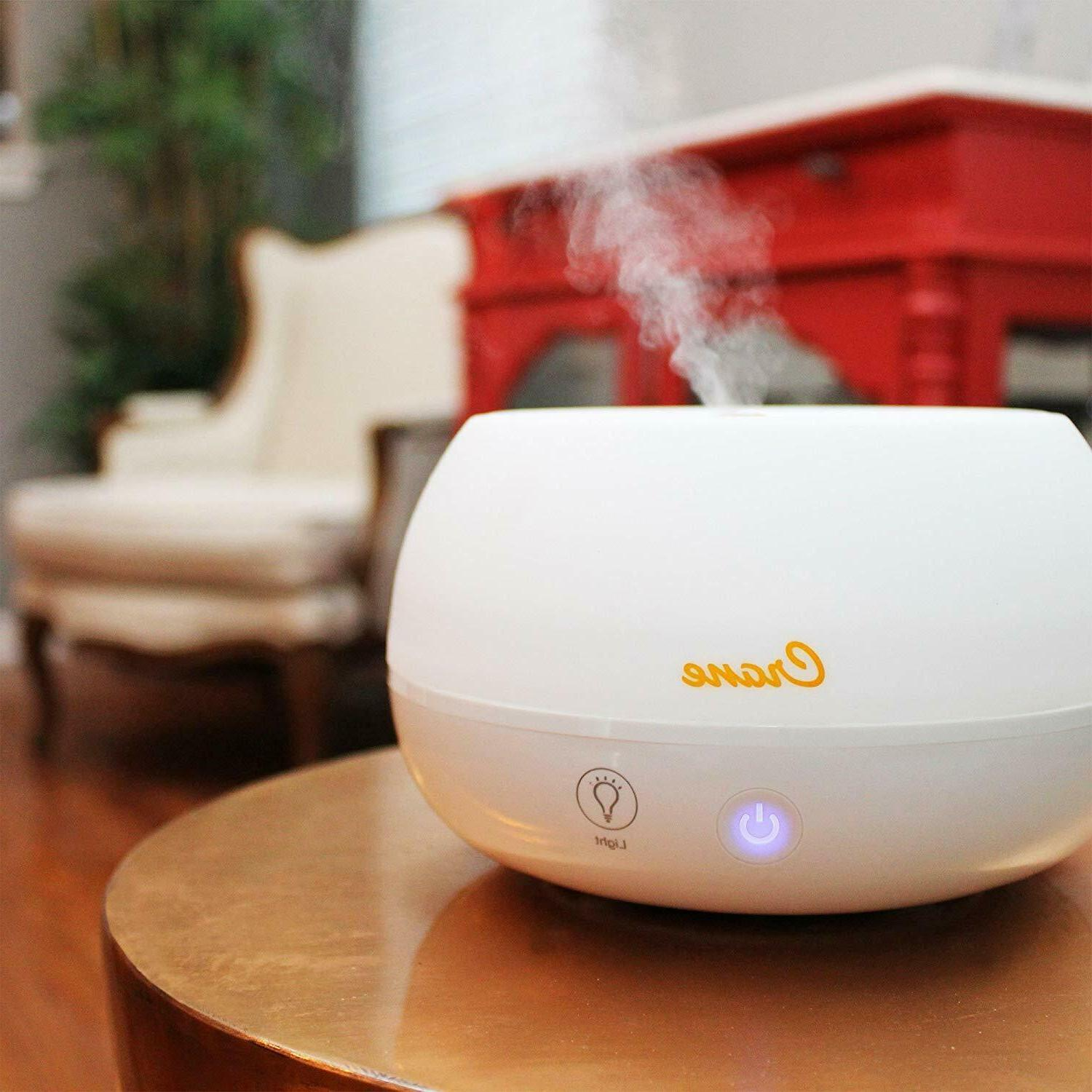 personal tabletop cool mist humidifier and diffuser