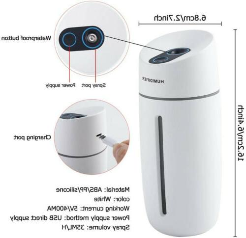 Portable Home USB LED Aroma Purifier