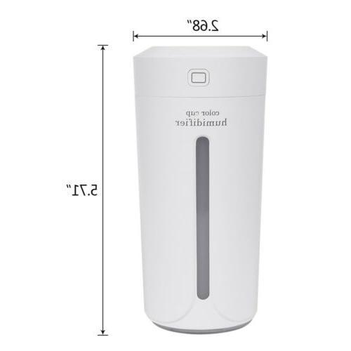 Portable Light Air Humidifier Aroma Mist Car 230ml