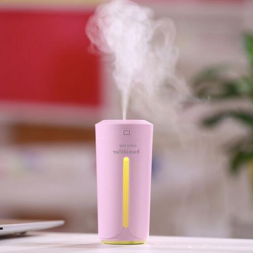 Portable Light Air Humidifier Aroma Mist Oil 230ml