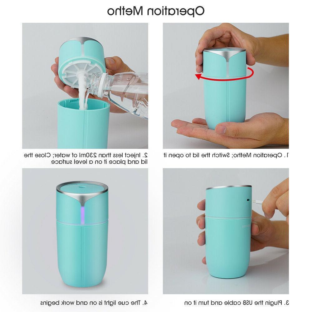 Portable USB Air Humidifier Diffuser Home