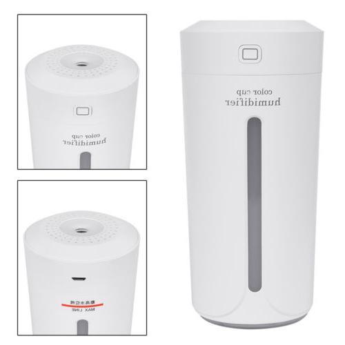 Portable USB Air Humidifier Diffuser Mist Purifier 230ml
