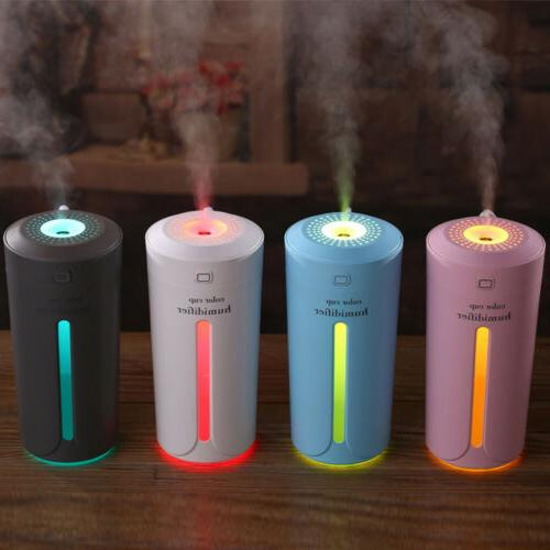 portable usb led light air humidifier diffuser