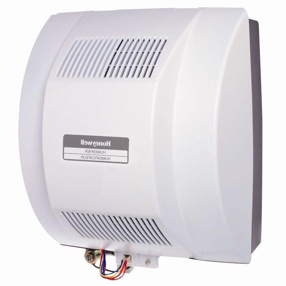powered whole house humidifier flow through mounts