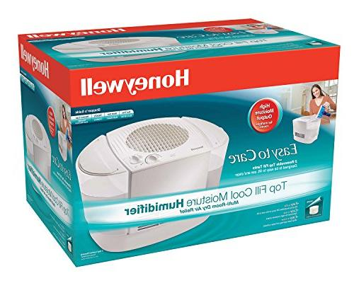 Honeywell Removable Top Console Humidifier Auto Variable Wicking Fill Tanks Rooms, Bedroom, Room
