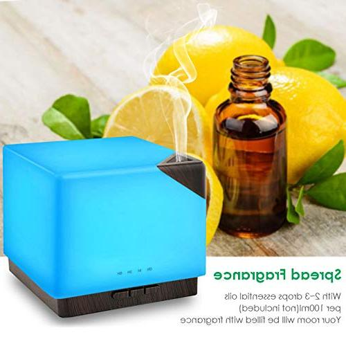 URPOWER 700ml Square Essential Oil Diffuser Large Modern Ultrasonic Aroma Running Hours 7 Changing for Office Study