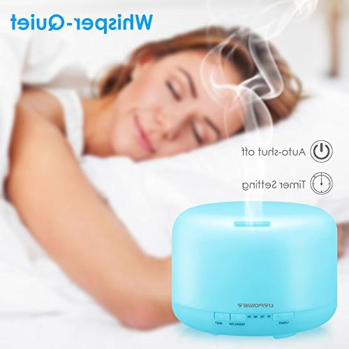 URPOWER Oil Aromatherapy Diffusers Shut-Off for Home Living Yoga