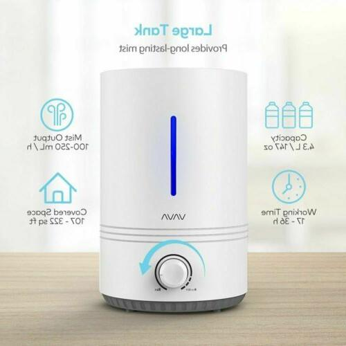 Humidifiers Cool Mist Humidifier Blue Mood Light for Baby Be