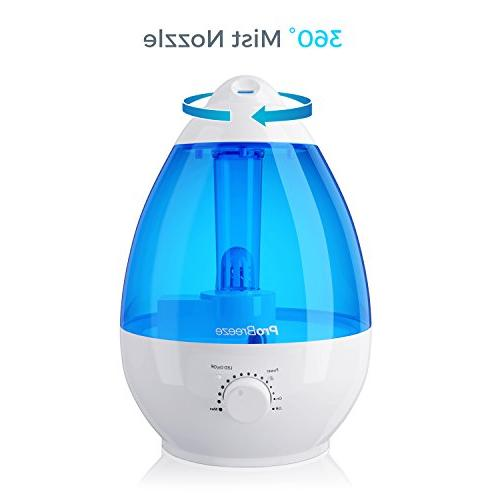 Pro Ultrasonic Mist - Works for up to 40 Automatic Shut-Off, and Light