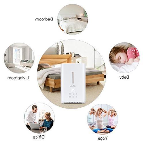 Mooka Humidifier 4L Capacity, Humidity Operation Adjustable Mist Mode Bedroom, Baby room, -