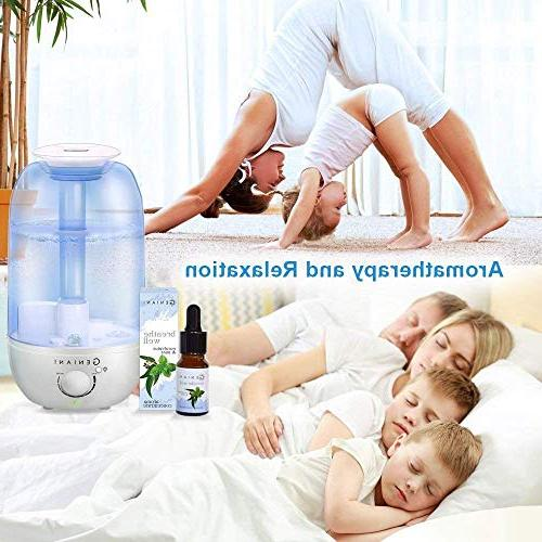 GENIANI Ultrasonic Aroma with and - Best for House | Quiet Operation, Safe for 2.4L