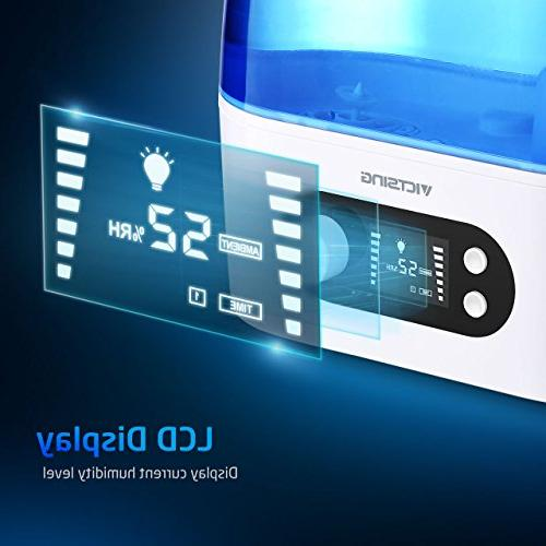 VicTsing Humidifier, 3L Include & Timer, Adjustable Mist & - Bedroom