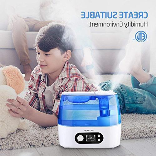 VicTsing Humidifier, Include Humidity Mist Nozzle, Operation & Bedroom Baby