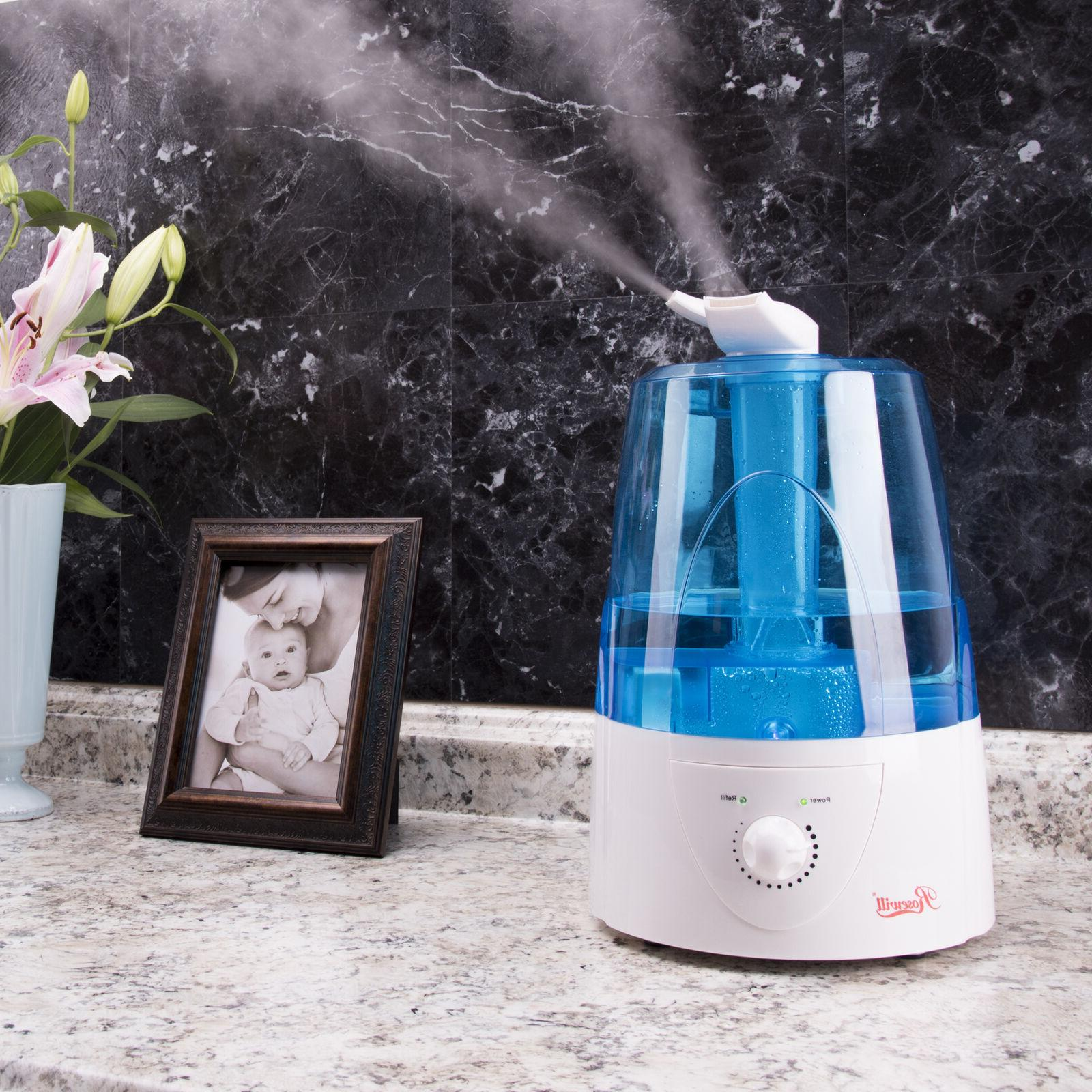 ultrasonic humidifier cool mist dual nozzles auto