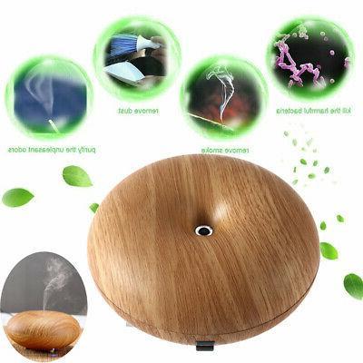 Light Woodgrain Ultrasonic Ion Humidifier Aroma Air Aromathe