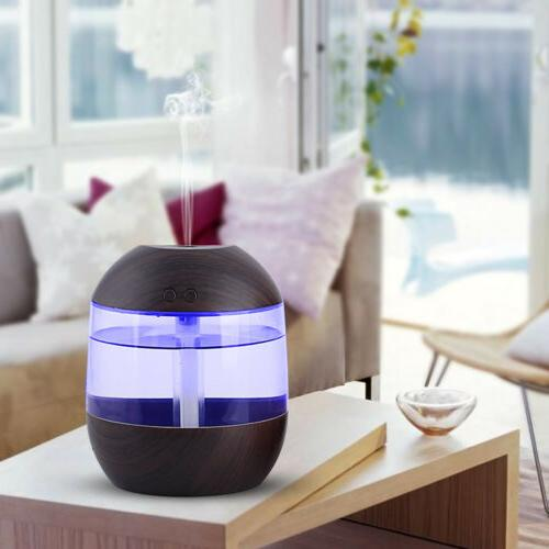 US Portable Humidifier Purifier Aroma Diffuser Atomizer