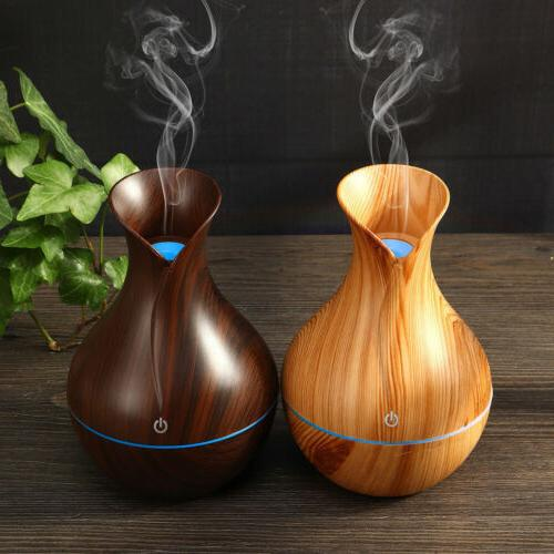 USA LED Ultrasonic Aroma Humidifier Essential Purifier
