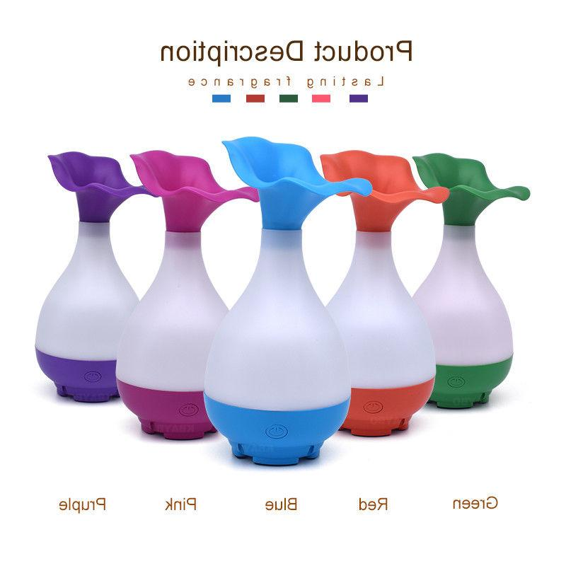 USB Air Diffuser with LED Mist SPA Aromatherapy Vase