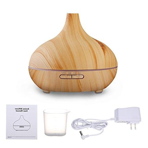 VicTsing Cool Humidifier Ultrasonic Oil for Home Bedroom Living Room Study Yoga Wood