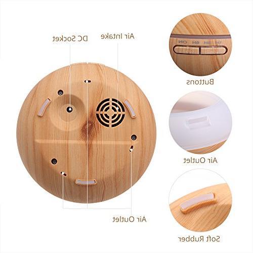 VicTsing Cool Humidifier Oil Office Study Wood Grain