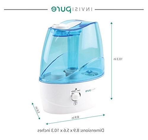 InvisiPure Humidifier Small Bedroom, Office, Kid Table Top, and - Night