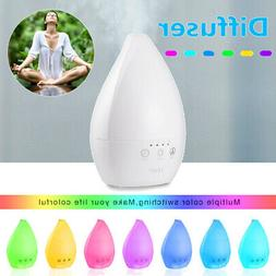 Colorful 7 LED Essential Oil Diffuser Humidifier Aromatherap