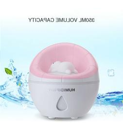 LED Light Mini Household Humidifier Diffuser Silent Air Fres