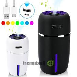 LED Mini Portable Car Humidifier Air Purifier Freshener Esse